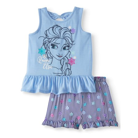 Tank Top and Shorts, 2pc Outfit Set (Toddler Girls) - Frozen Outfits For Kids