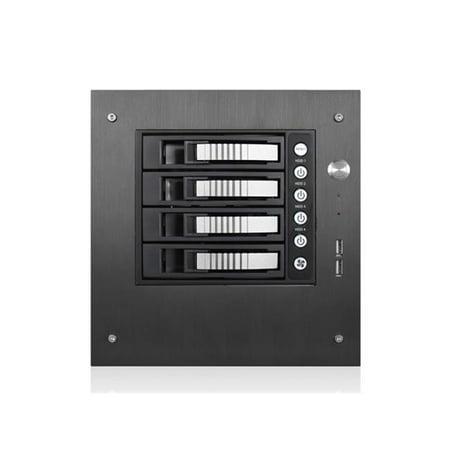 Compact Stylish 4X 3.5 In. Hotswap Mini-Itx Tower, Silver