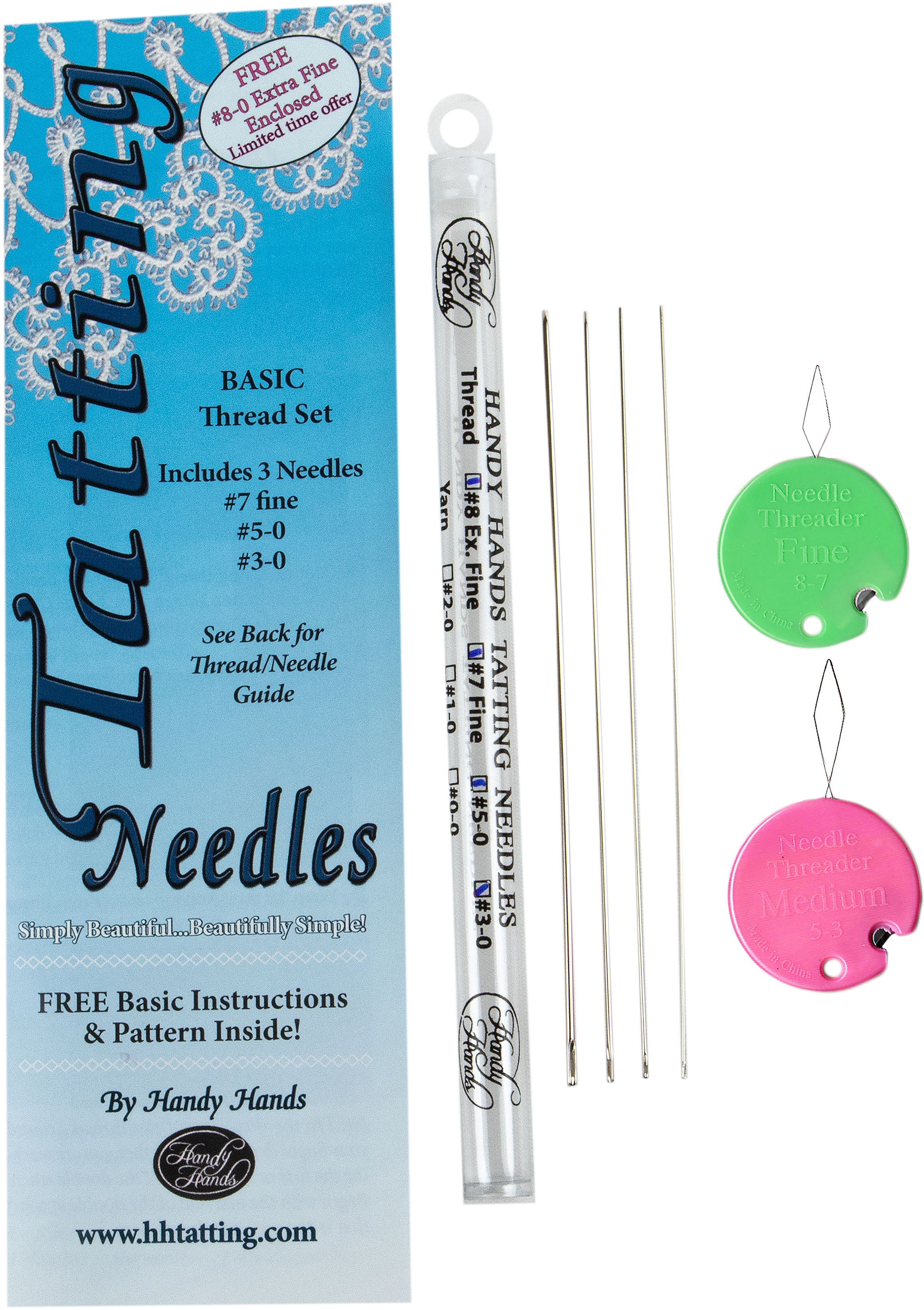 Handy Hands 3-Piece Tatting Needles Set for Thread Free Shipping !!
