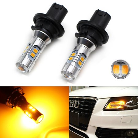 iJDMTOY (2) Amber Yellow Error Free PH24WY SPH24 12272 LED Bulbs For Audi Cadillac GMC etc. For Front Turn Signal Lights (Gmc Bulbs)