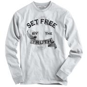 Set Free Christian T Shirt | Jesus God Savior The Truth Bible Long Sleeve Tee