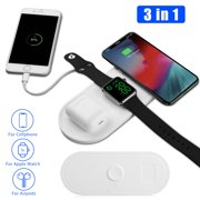 Wireless Charger, EEEKit Wireless Charging Pad Compatible for iPhone Apple Watch iWatch Series 5/4/3 & AirPods, 10W Qi Fast Charger Fit for Galaxy S10/S9, 7.5W Fit for iPhone 11 Pro Max/Xs/8 Plus