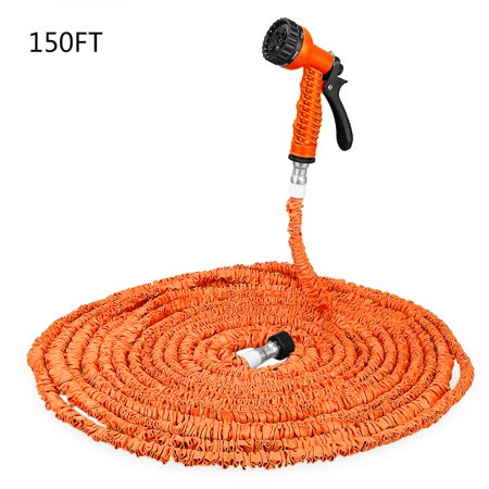 150FT Expandable Garden Hose Pipe with 7 in 1 Spray Gun