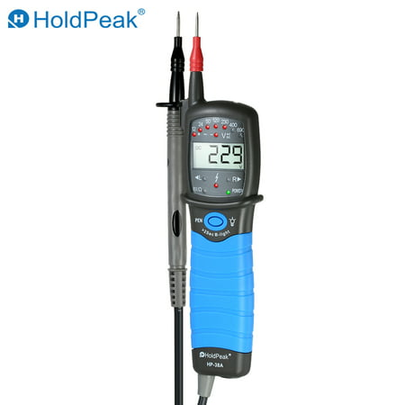 HoldPeak Non-contact Auto-range LCD AC/DC Voltage Tester Detector Continuity Test Phase Rotation Test (Rotation Test)