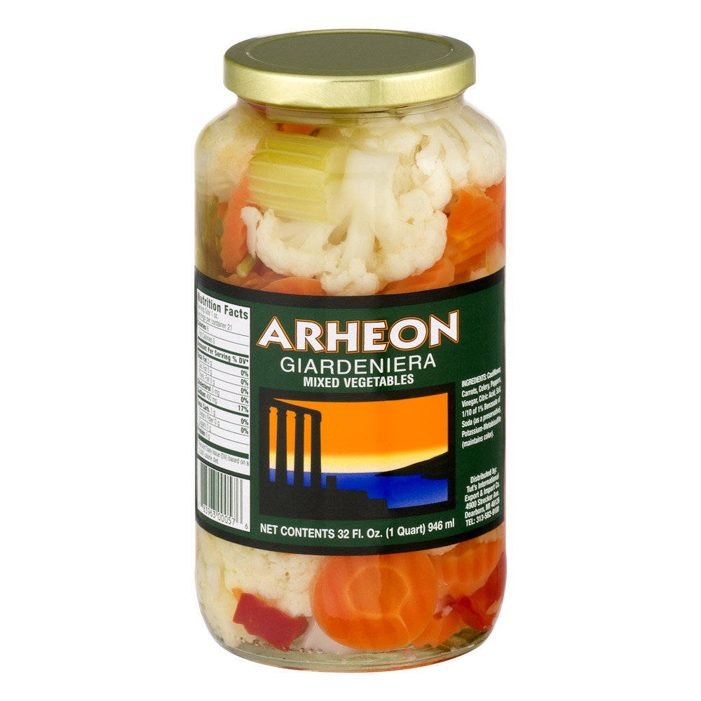 Arheon Giardeniera MIxed Vegetables, 32.0 FL OZ by Tut's International