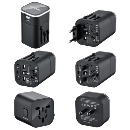 Fospower B3 Worldwide Universal International Travel Adapter With Dual 3 2A Usb Charging Ports Us Uk Eu Au Adapter