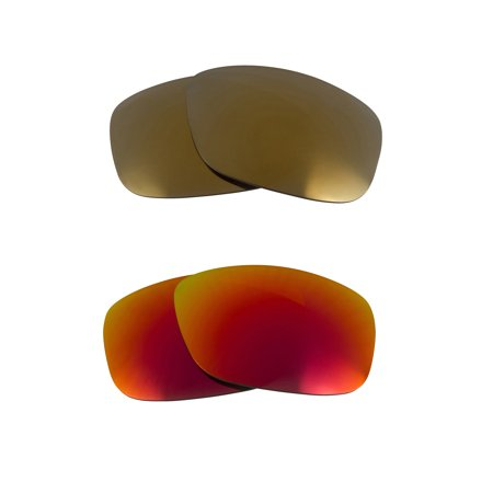 42b6e02fed6 Seek Optics - Square Wire (2006) Replacement Lenses Red   Gold by SEEK fits  OAKLEY Sunglasses - Walmart.com
