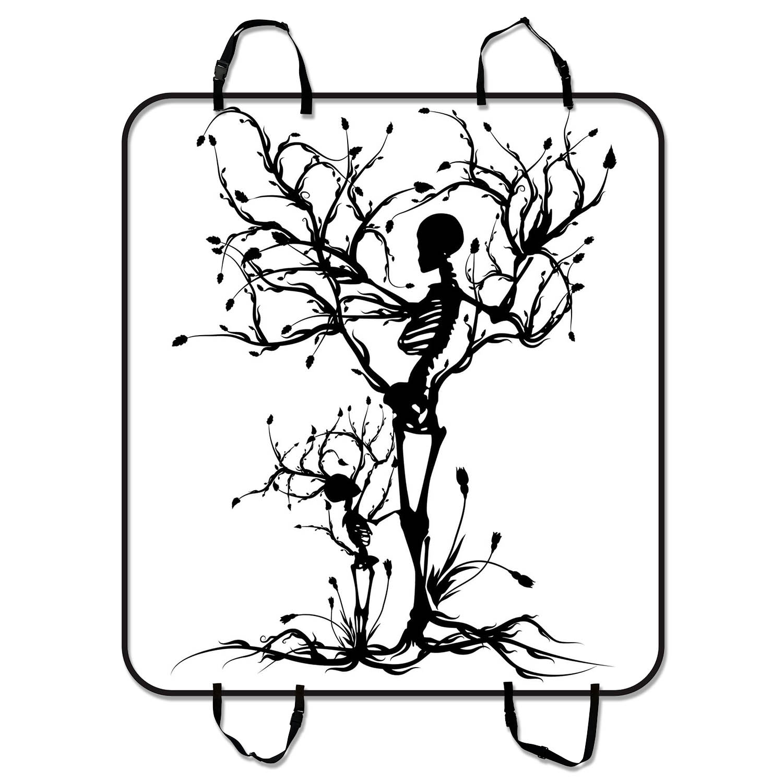 YKCG Tree of Life Skull Tree Black Pet Seat Cover Car Sea...