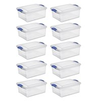 Sterilite 15 Qt. Latch Box Stadium Blue Case of 10