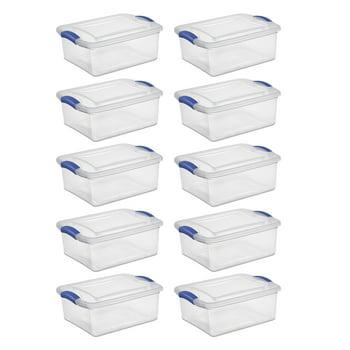 10-Pack Sterilite, 15 Qt./14 L Latch Box