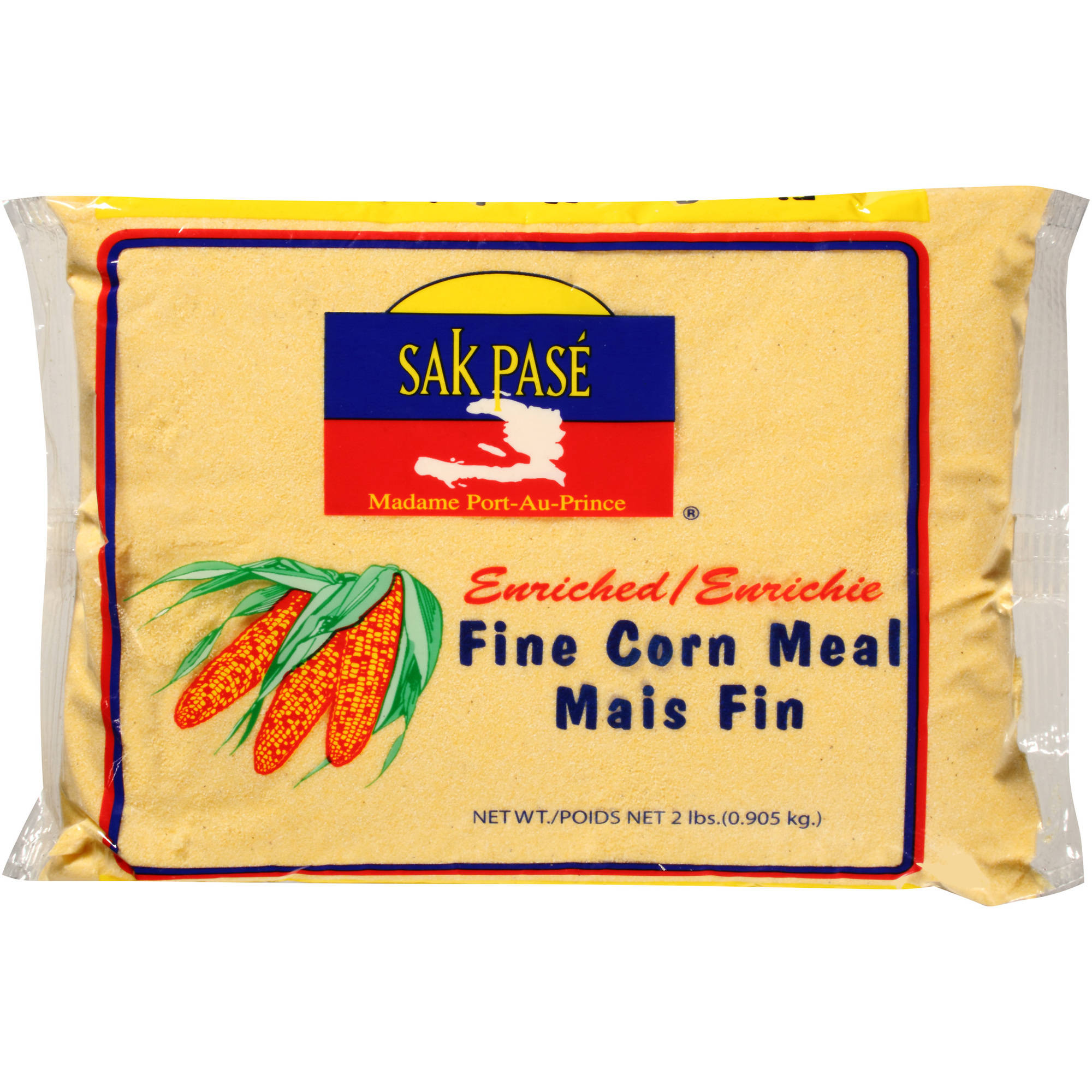 Sak Pase Madame Port-Au-Prince Fine Corn Meal, 2 lbs