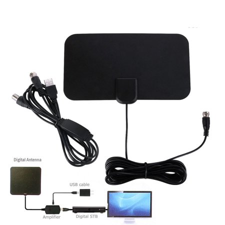Digital TV Antenna VHF/UHF Frequency 1080P HD 50 Miles Amplified HDTV  Antenna with Signal Booster