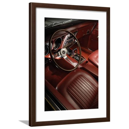 - Chevrolet Camaro 327 rally sport Convertible 1968 Framed Print Wall Art By Simon Clay