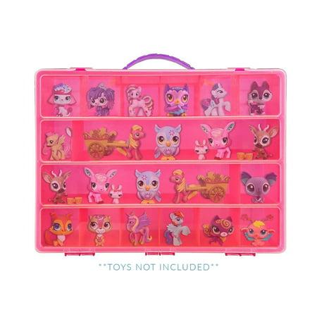 Littlest Pet Shop Case, Toy Storage Carrying Box. Figures Playset Organizer. Accessories For Kids by LMB (Littlest Pet Shop Party Supplies)