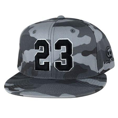 87f681adc4af Player Jersey Number  23 Snapback Hat Cap Air Jordan   Lebron - Grey Camo  Black - Walmart.com