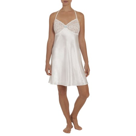 9022a3cc44 Womens and Womens Plus Satin and Lace Sleep Chemise Gown - Walmart.com