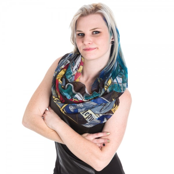 Viscose Scarf - - Crests Infinity New Toys Anime Licensed sf2gwphpt