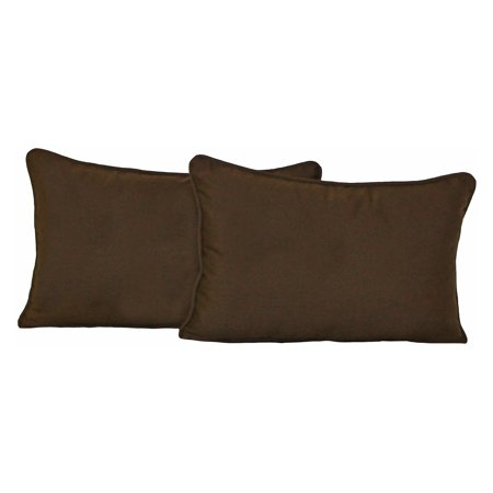 Red Ring Pillow (Blazing Needles 20 x 12 in. Twill Back Support Pillows with Cording - Set of 2)