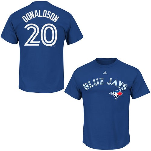 Josh Donaldson Toronto Blue Jays Majestic Youth Player Name & Number T-Shirt - Royal