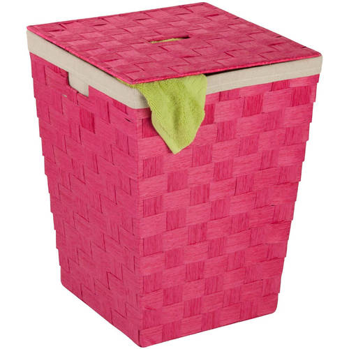 Honey-Can-Do Small Seagrass Basket with Handles, Multicolor