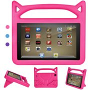 Tablet 7 2019 Case, Tablet 7 Kids Case - Kids Shockproof Foam Case with Stand Cat Ear Handle Kids Cover for 7 Tablet (Compatible with 9th Generation 2019 and 7th Generation 2017)