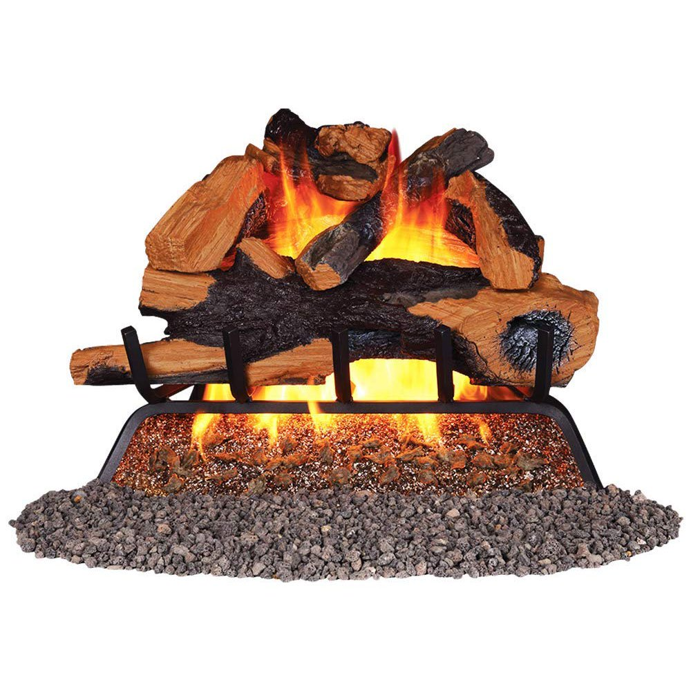 Remington 18 Inch Backwoods Split Vented 45,000 BTU Natural Gas Log Burner Set