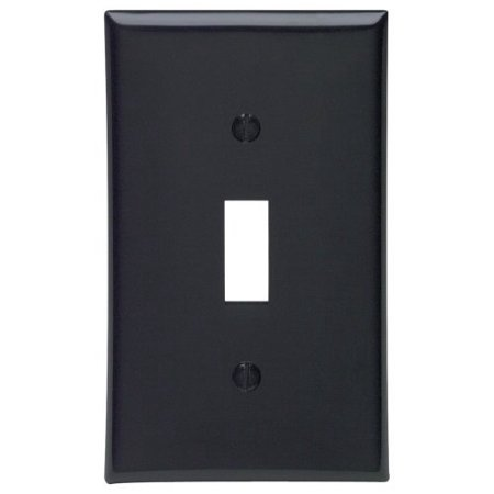 Leviton 80701-E Black Nylon Single Gang Toggle Light Switch Wall Plate