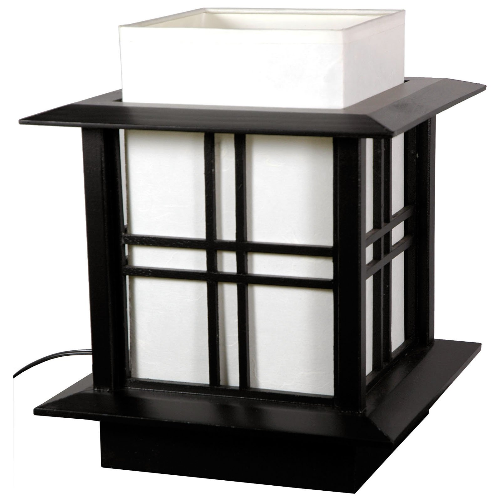 Oriental Furniture Akida Lamp 10 Inch - Black