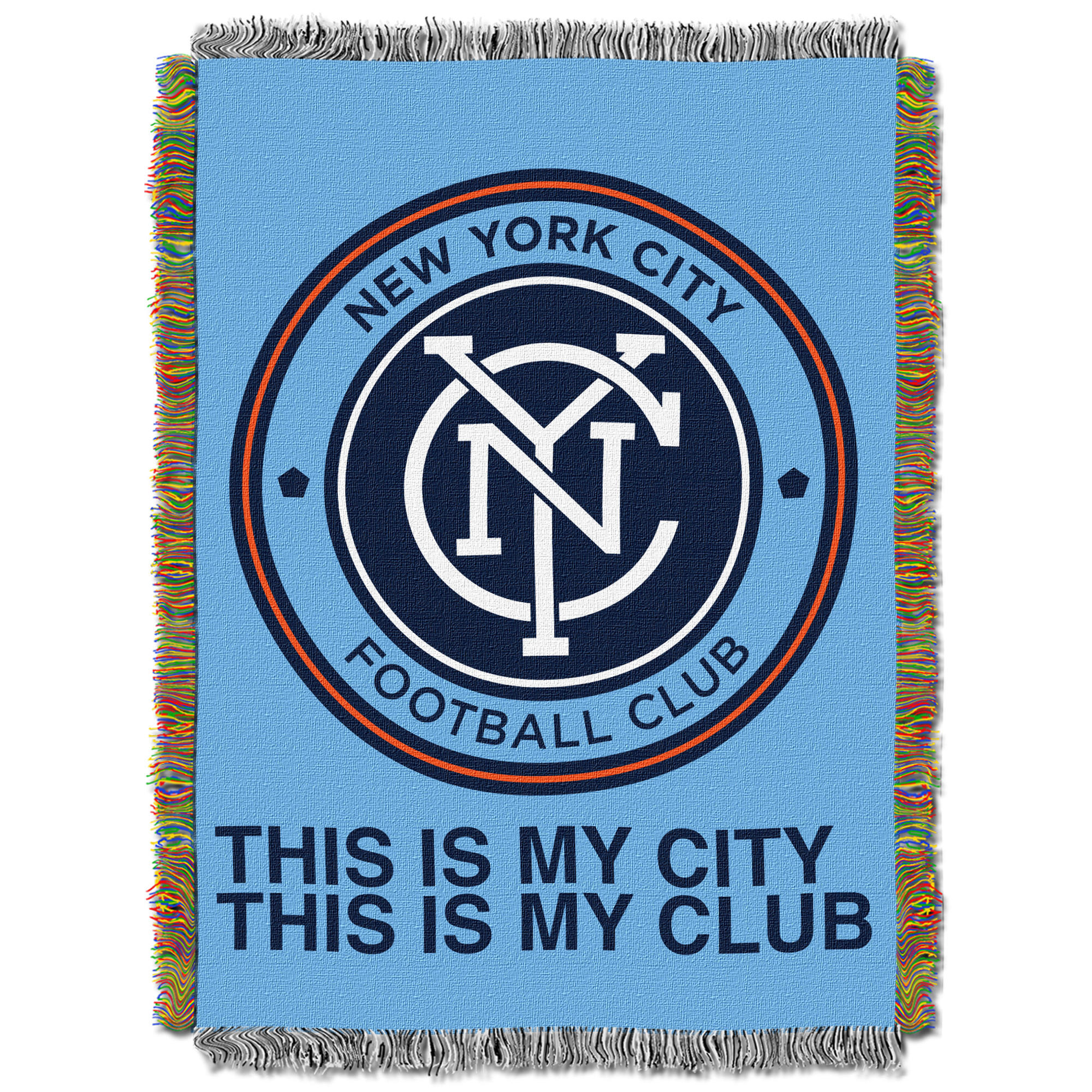 """New York City FC The Northwest Company 40"""" X 60"""" Woven Tapestry - Light Blue - No Size"""