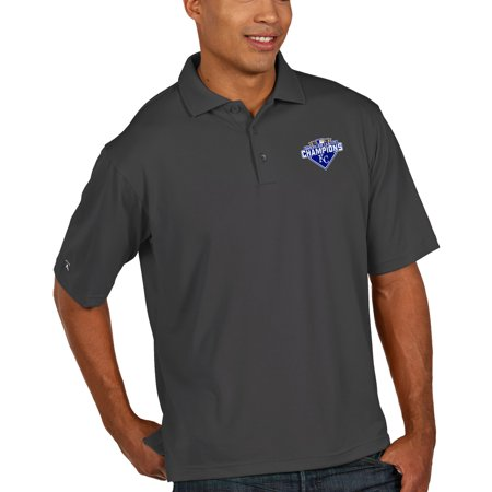 Kansas City Royals Antigua 2015 American League Champions Pique Xtra-Lite Polo -