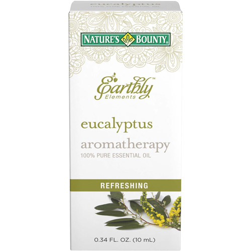Nature's Bounty Earthly Elements Aromatherapy Eucalyptus 100% Pure Essential Oil, 0.34 fl oz