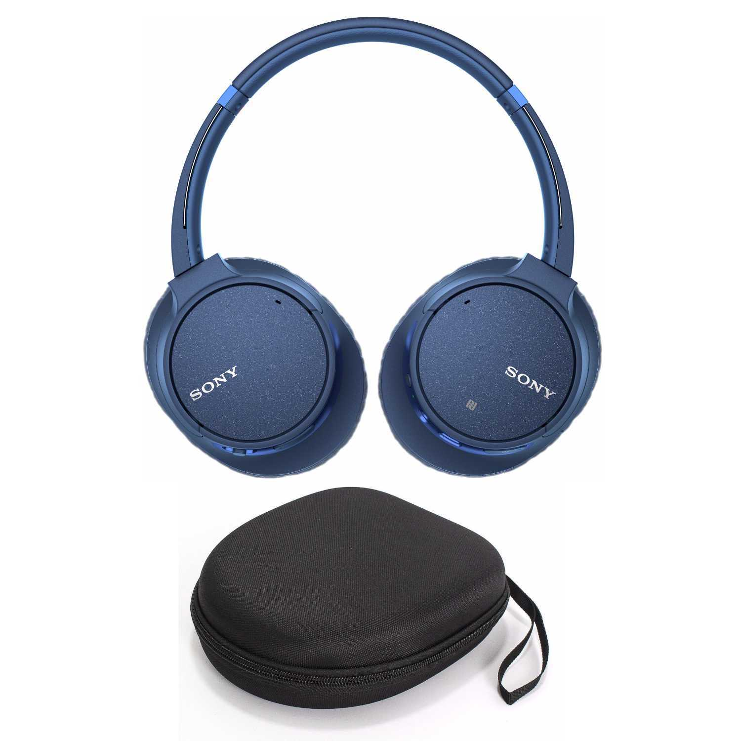 Sony WH-CH700N Wireless Noise Canceling Headphones (Blue) with Case Bundle