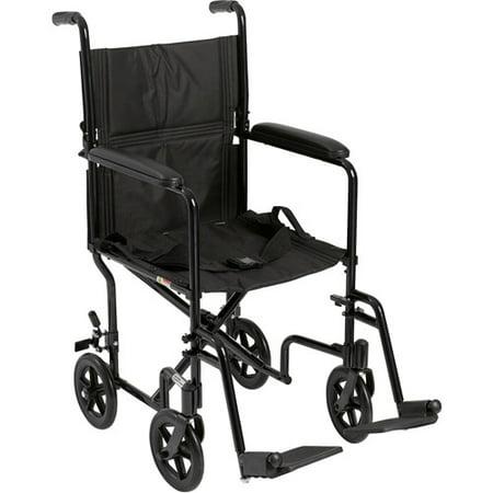 Drive Medical Lightweight Black Transport Wheelchair - Walmart.com