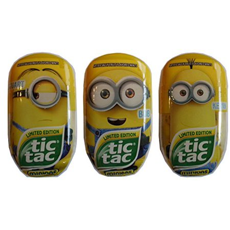 Tic Tac Limited Edition Despicible Me Minion Bundle, Kevin, Bob and Stuart, 3.4 oz each - Minion Kevin Toy