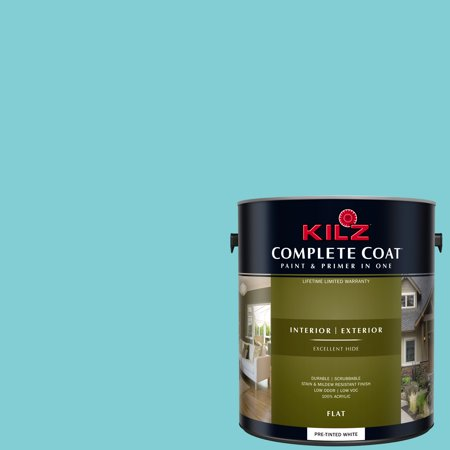 KILZ COMPLETE COAT Interior/Exterior Paint & Primer in One #RF190-01 Classic Turquoise Classic Painted Finishes Bath