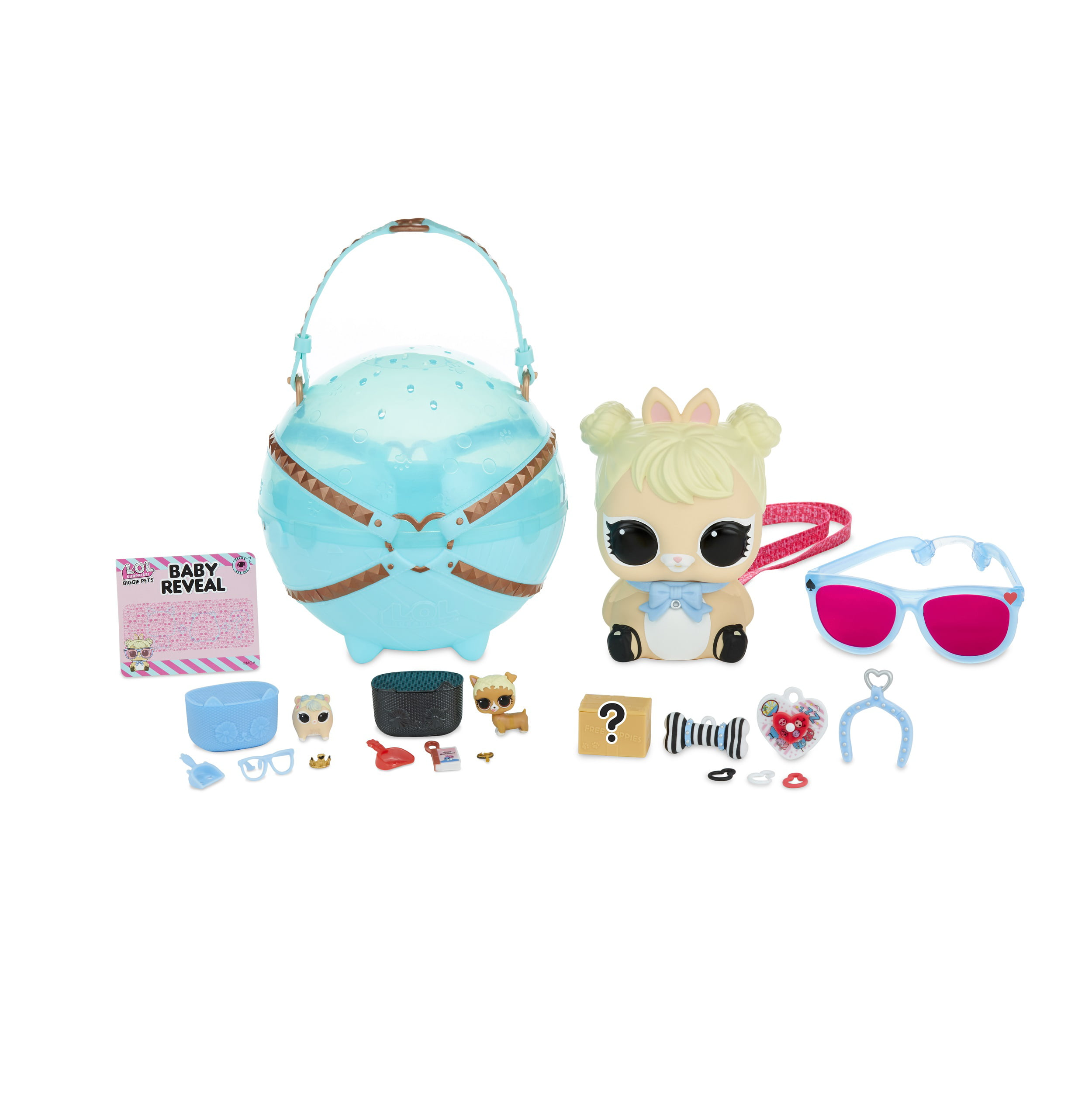LOL COTTONTAIL QT Bunny Surprise Pets Doll with Accessory Bottle Hair Clip toy