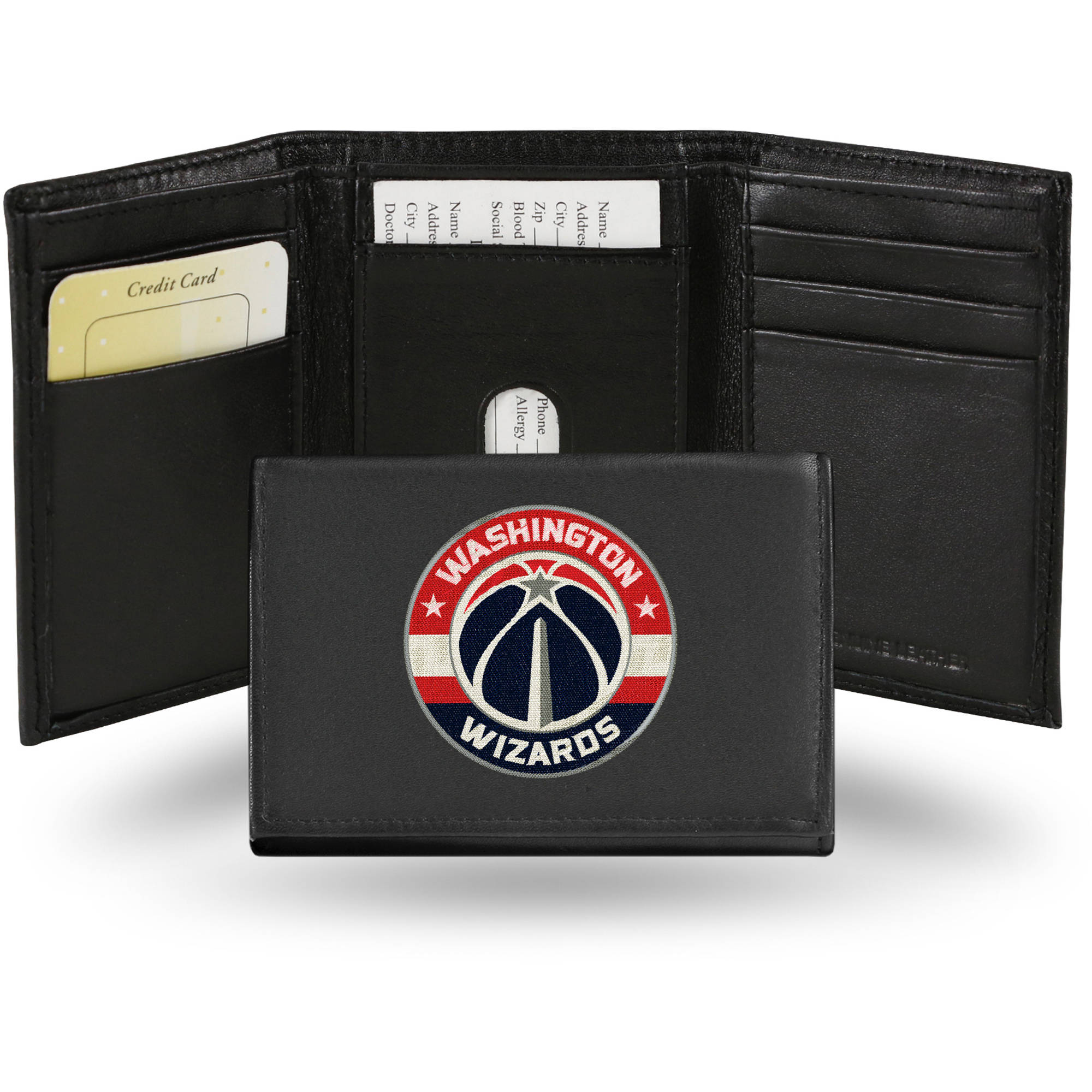 NBA - Men's Washington Wizards Embroidered Trifold Wallet