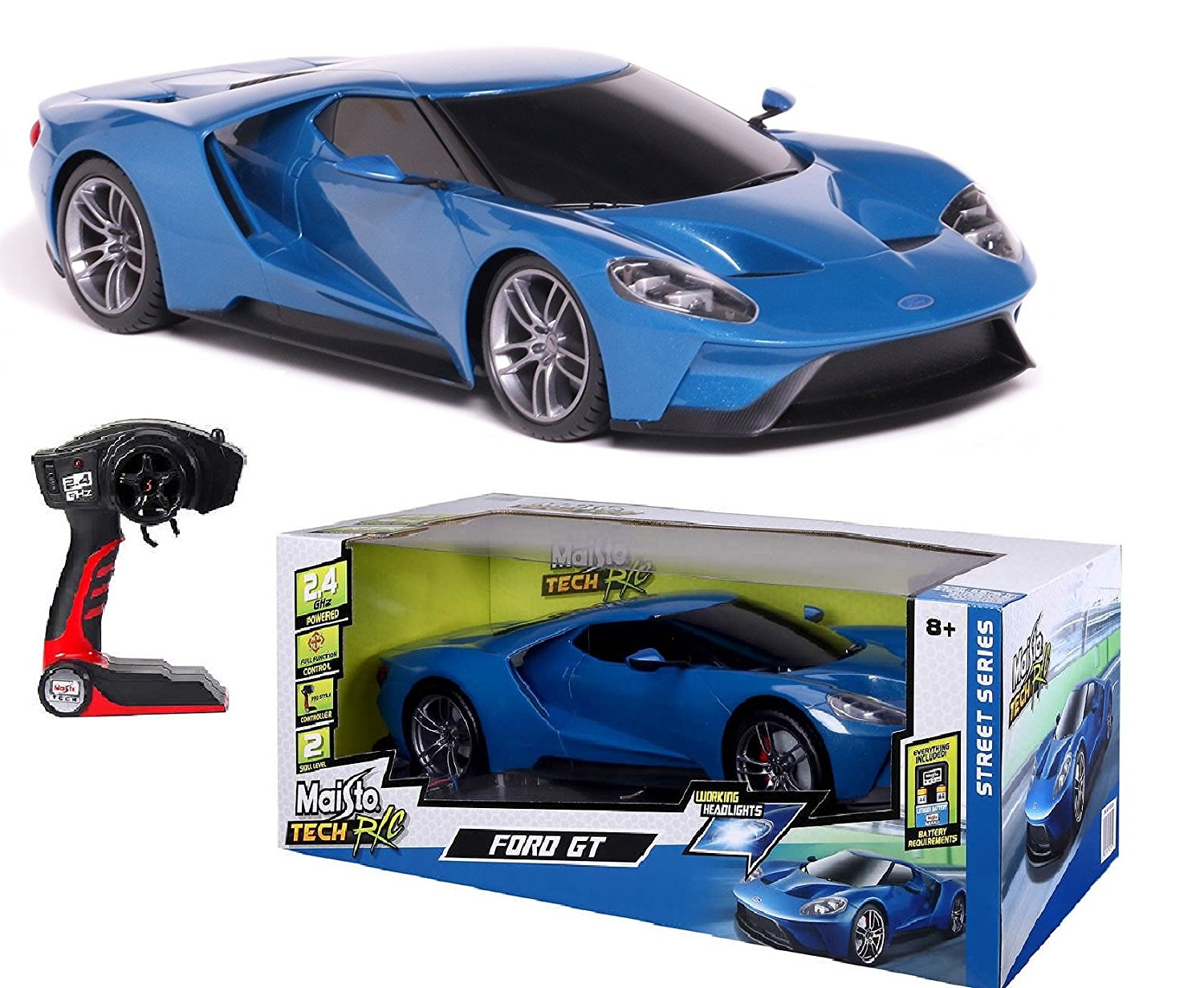 Maisto Tech R C  Scale Ford Gt Blue Pro Style Controller Working