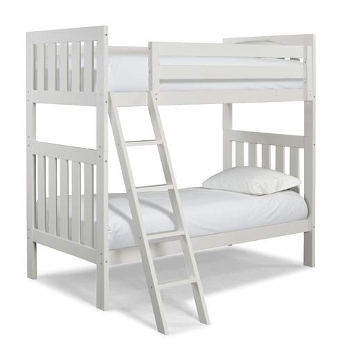 Canwood Lakecrest Twin Over Twin Bunk Bed, White