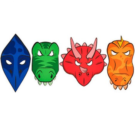Dinosaur Foam Masks Costume Party Accessories 8 Count - Dinosaur Foam Masks