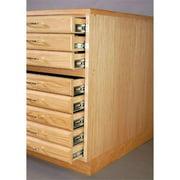 SMI 3042-FB-SDG Medium Oak Steel Drawer Guide Flat File Flush Base