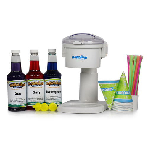 Hawaiian Shaved Ice Snow Cone Machine and Party Package