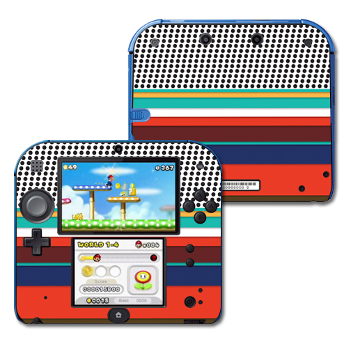 Mightyskins Protective Vinyl Skin Decal Cover for Nintendo 2DS wrap sticker skins New Color