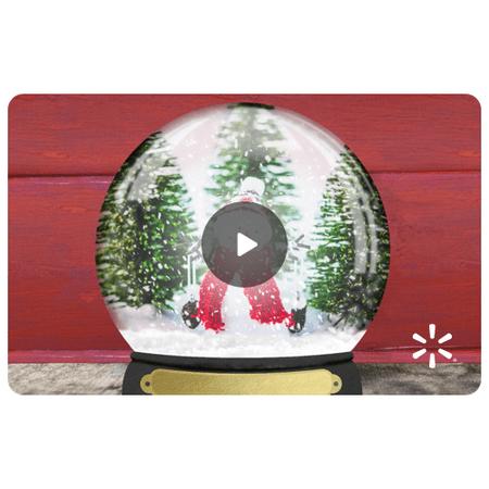 Snow Globe Walmart eGift Card