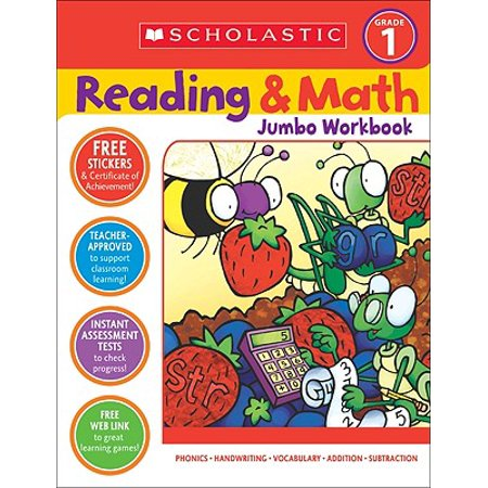 Reading & Math Jumbo Workbook: Grade - Halloween Math 2nd Grade
