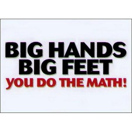 Big Hands Big Feet Do The Math Magnet DM2135
