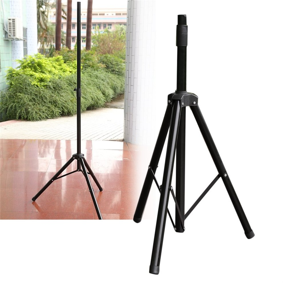 Universal Portable Retractable Black Heavy Duty Tripod Surround Holder Pole Mount DJ PA Speaker Stand Support Bracket