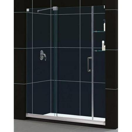 Dreamline mirage frameless sliding shower door and for 1 4 inch sliding door track