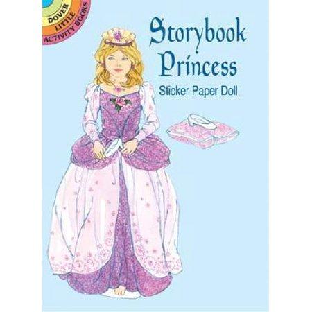 Dover Little Activity Books: Storybook Princess Sticker Paper Doll - Princess Jasmine Story Book