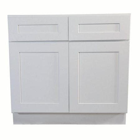 - Design House 561415 Brookings Unassembled Shaker Base Kitchen Cabinet 42x34.5x24, White
